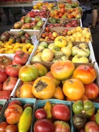 Agora Bar and Grill: heirloom tomatoes