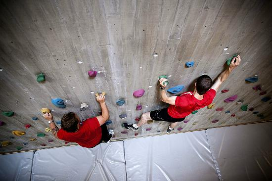 Roros Rehabilitering Guesthotell: The climbing wall