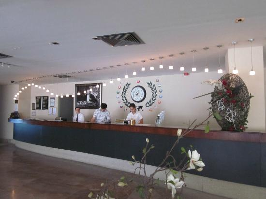 Degirmen Hotel: Front desk