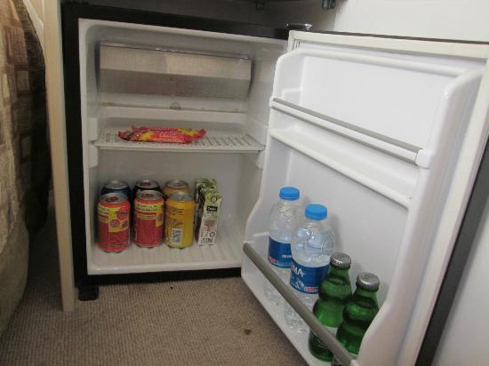 Degirmen Hotel: Hot drinks in the fridge.