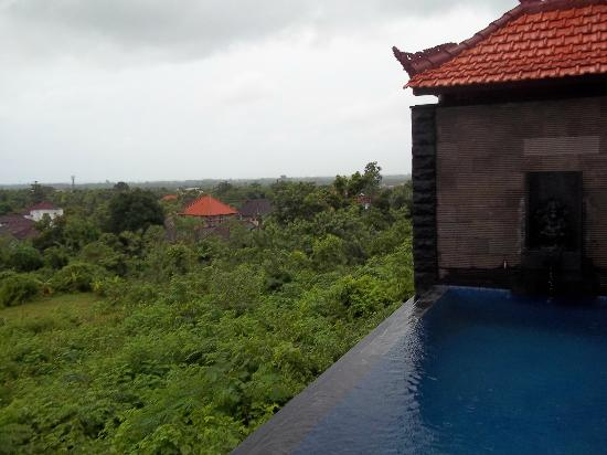 Jimbaran Cliffs Private Hotel & Spa: view from the gazebo