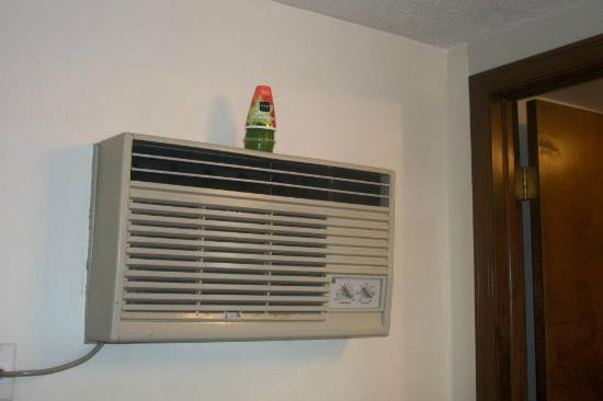Colonial Inn South: Air freshener on our a/c unit.