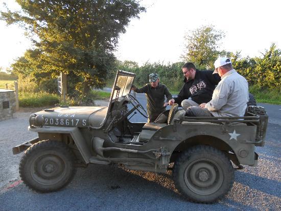 La Batterie du Holdy: Jeep Willys qui sert à la découverte de la région