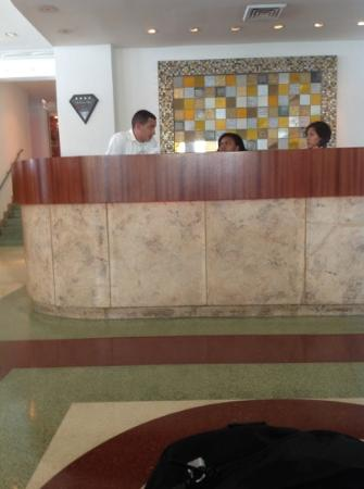 The Hotel of South Beach: front desk