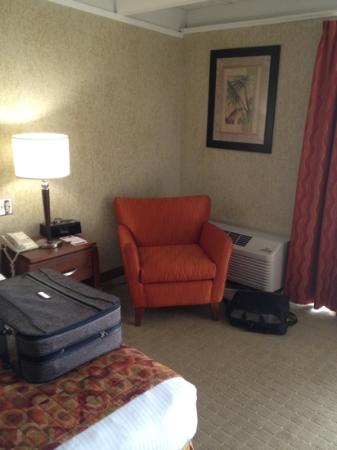 Ramada Plaza Springfield Hotel and Oasis Convention Center: King room sitting area