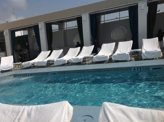 The Hotel of South Beach: roof top cabanas, pool side