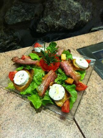 Hotel Ocean : Salade au chèvre chaud