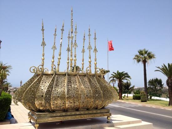 Mausolée de Mohammed V : à l'entrée
