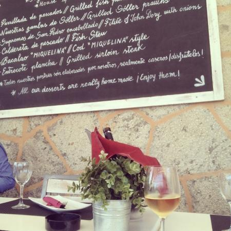 Restaurant Ca'n Miquelina: The menu of the day!