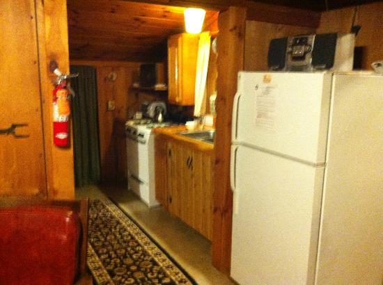 Josselyn's Getaway Log Cabins: Kitchen