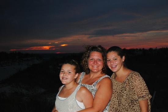 Cape Charles Beach: Girls on the beach at Cape Charles, VA