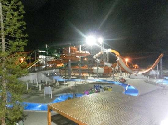 Water park at night - Picture of Sun Palace Hotel, Faliraki - TripAdvisor