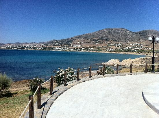 Poseidon of Paros: View to beach