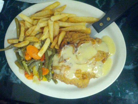 Good Times Diner: Chicken Fried Steak with Gravy & Sauted onions