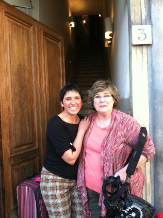 Soggiorno Antica Torre: Pamela and Val at the front door