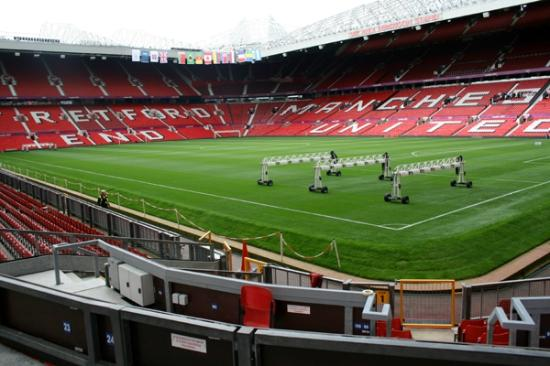 Trafford, UK: An empty ground.....zzzzzzzzzzzzzzzzz