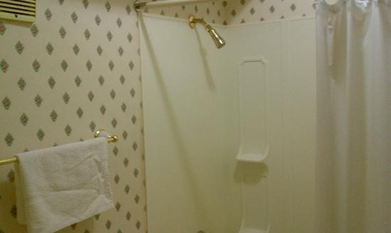 بيونيير هوتل آند جاملبلينج هول: Inside our room the bathroom 