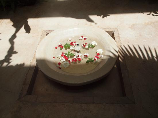 Riad Djebel: Courtyard water bowl