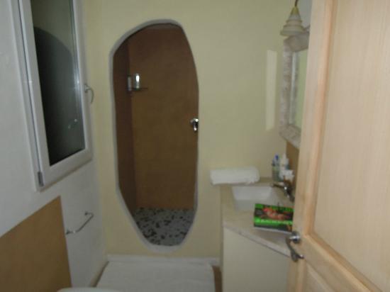 B&B Albaluccia: l'ingresso nella doccia visto dal bagno