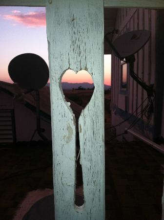 Tombstone Bordello: Sunset on the back porch