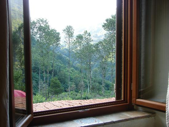L'Ivogne B&B: Looking out the window of the apartment suite