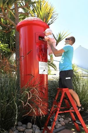 Cafe Gannet: Giant postbox to post your letters and cards