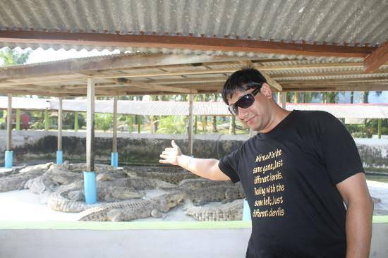 Teluk Sengat Crocodile Farm: Me