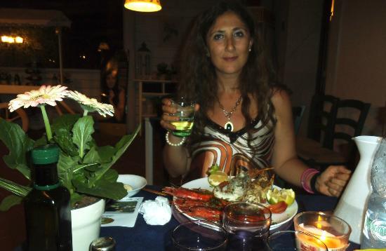 Agriturismo Villa Cristina : Gustosissima cena a base di pesce freschissimo!