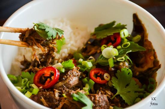 Icoa: Indonesian Lamb Curry and Rice Bowl