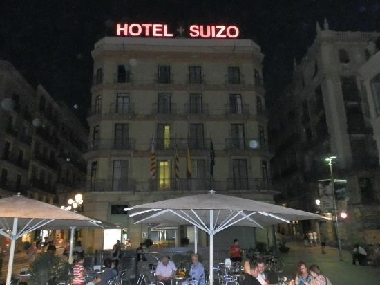 Hotel Suizo: fachada do hotel