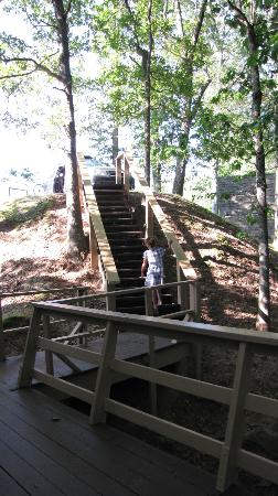 Dillard House: Steps up to parking from Chalet #7