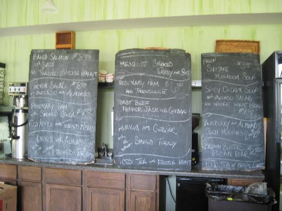 The Green Bean: The menu boards