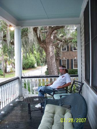 The Beaufort Inn: front porch of Fisher House