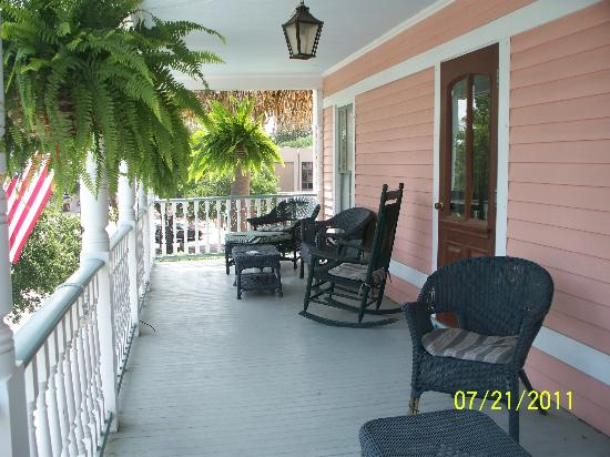 The Beaufort Inn: semi-private second story front porch