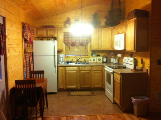 Cedar Rock Cabins: Kitchen in Violet's Song