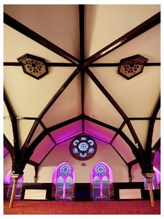 Gulistan House: Rose Suite Spider Arch Window View