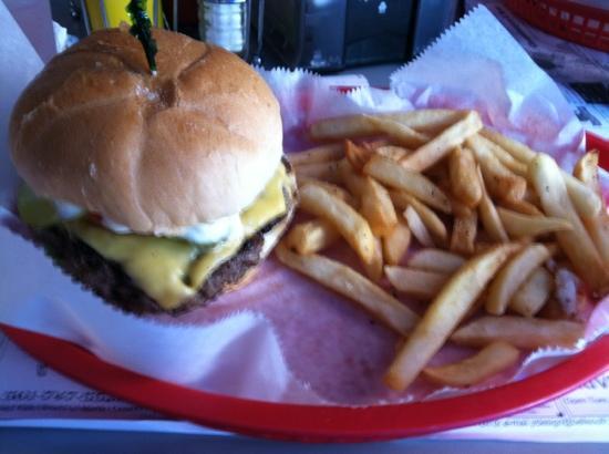 Cheeseburgers & More: cheeseburger and fries