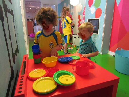 Scandic Norrkoping Nord : Play area off the lobby makes check in much easier for families with young children.