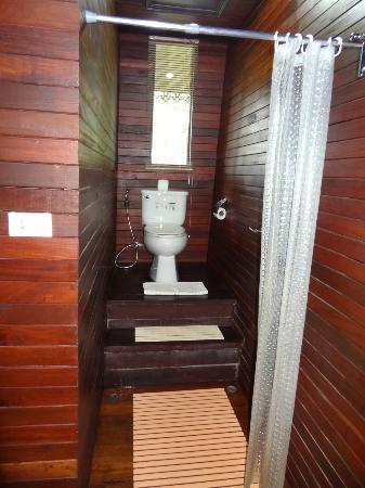 Baan Habeebee Resort : Douche et WC bungalow De Luxe