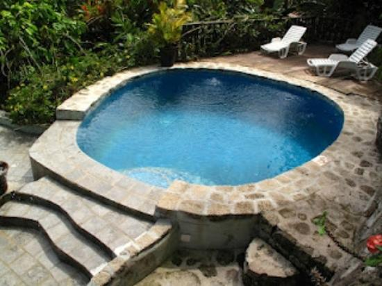 Fond Doux Plantation & Resort: One of the basins in the three-basin pool.