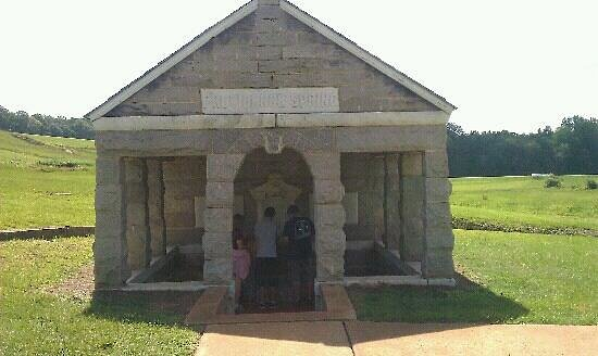 Andersonville, GA: The spring which appeared suddenly saving many a soldiers lives.