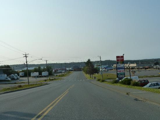 Haida Way Motor Inn : Blick vom Hotel Richtung Hafen