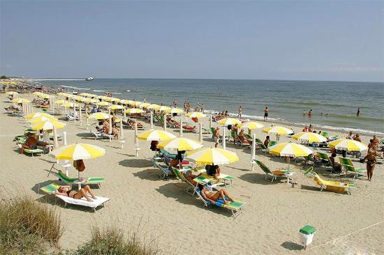 Hotel Meridiana: La spiaggia di Marina Romea