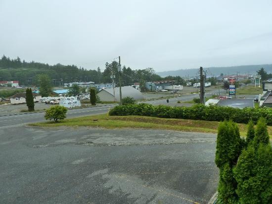 Haida Way Motor Inn: Blick vom Hotel in Richtung Hafen