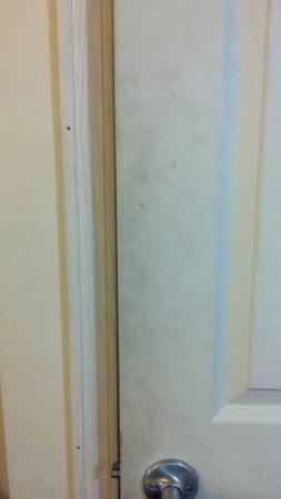 Econo Lodge Hermitage : Fithly Bathroom Door