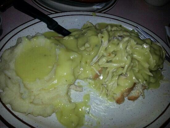 Mike's Roadhouse Cafe: The open faced Turkey Sandwich had real turkey, homemade mashed potatoes, and excellent gravy.