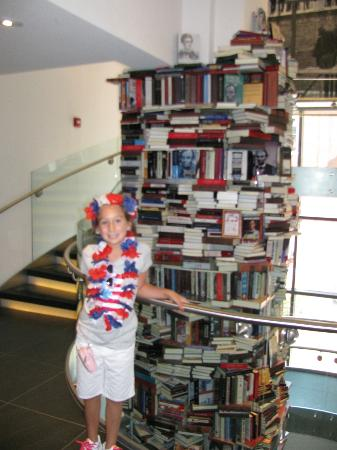 Petersen Boarding House: All the books about Lincoln stacked up