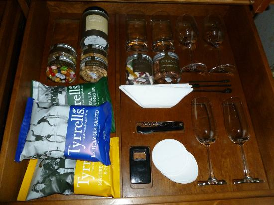 The Dorchester: more of the overpriced mini-bar