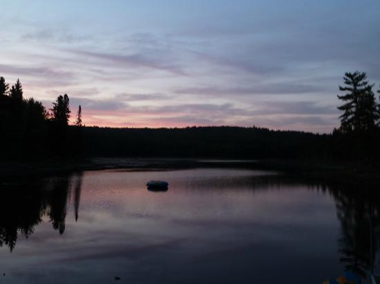 Algonquin Eco-Lodge: You can easily swim in the lake, or go for a canoe trip