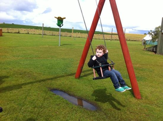 Active Kid Adventure Park: the swing. and my son